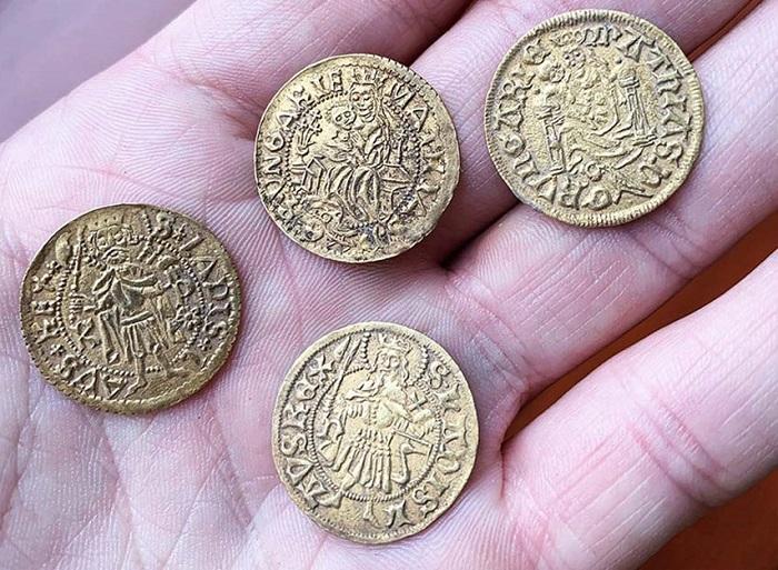 Monedas de oro del reinado de Matías I de Hungría (1458-1490)