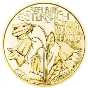 Anverso de la moneda dedicada a los bosques alpinos por la Münze Österreich