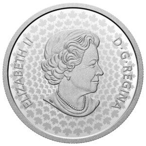 Anverso de la moneda de plata de Canadá dedicada a los Lealistas Negros