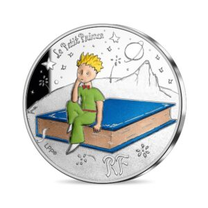 Anverso de la primera moneda dedicada por la Monnaie de Paris al 75 aniversario de 'El Principito'