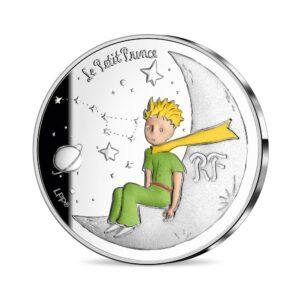 Anverso de la segunda moneda dedicada por la Monnaie de Paris al 75 aniversario de 'El Principito'