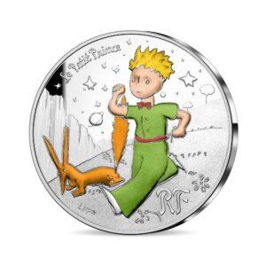 Anverso de la tercera moneda dedicada por la Monnaie de Paris al 75 aniversario de 'El Principito'