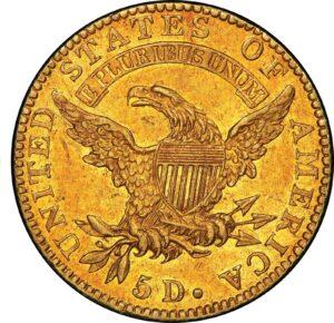 Reverso del medio Eagle de oro de 1822