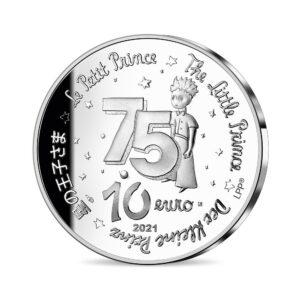 Reverso común de las monedas de plata dedicadas por la Monnaie de Paris al 75 aniversario de 'El Principito'
