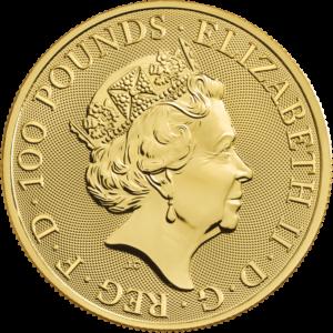 Anverso de la moneda de oro de Robin Hood