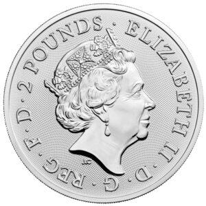 Anverso de la moneda de plata de Robin Hood