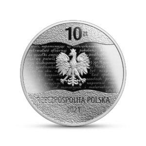 Anverso de la moneda de plata dedicada al Centenario de la Constitución de Marzo de Polonia