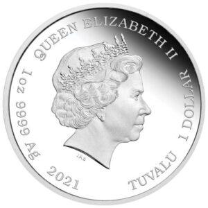 Anverso de la moneda de James Bond acuñada por la Perth Mint