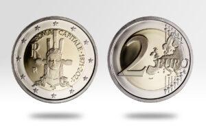Moneda de dos euros conmemorativa de los 150 años de la capitalidad de Roma
