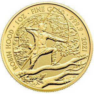Reverso de la moneda de oro de Robin Hood