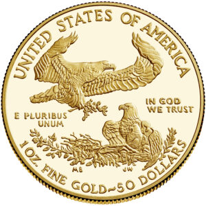 Reverso del American Eagle de oro versión proof 2021