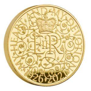 Reverso de la moneda diseñada por Gary Breeze para el 95 aniversario de la reina Isabel II
