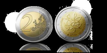 Moneda de dos euros conmemorativa del centenario de la Asociación de Periodistas de Finlandia
