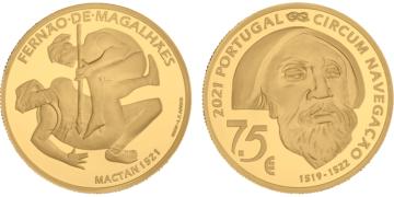 Moneda de oro dedicada al V Centenario de Magallanes