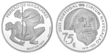 Moneda de plata de 925 milésimas dedicada al V Centenario de Magallanes