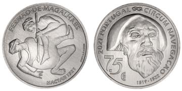 Moneda de plata de 500 milésimas dedicada al V Centenario de Magallanes