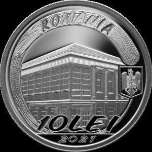 Anverso de la moneda de plata dedicada al pintor rumano Theodore Pallady