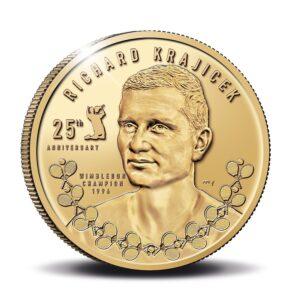 Anverso de la medalla de oro dedicada a Richard Krajicek