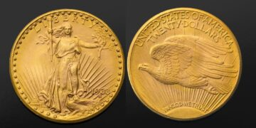 Anverso y reverso del Double Eagle de oro de 1933