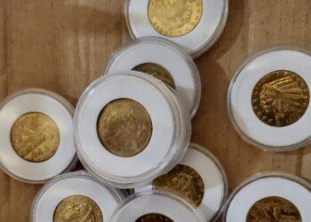 Monedas Indian Head de 2,5 dólares de oro incautadas en California