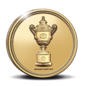 Reverso de la medalla de oro dedicada a Richard Krajicek