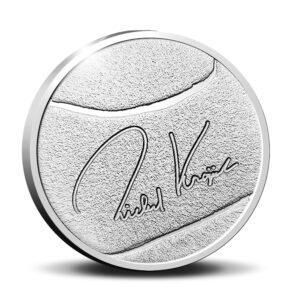 Reverso de la medalla de plata dedicada a Richard Krajicek