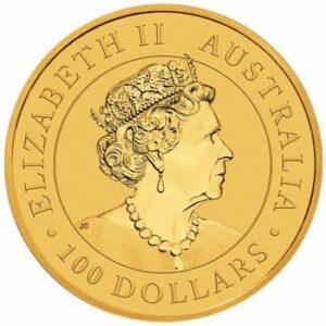 Anverso de la moneda de oro dedicada a la mina de oro Super Pit (2021)