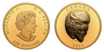 Moneda de oro dedicada al bisonte por la Royal Canadian Mint